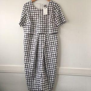 Asos Curve Asymmetric Wiggle Dress Size 14